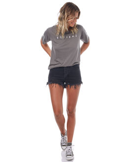 FADED GREY WOMENS CLOTHING THRILLS TEES - WTS7-101GFGREY