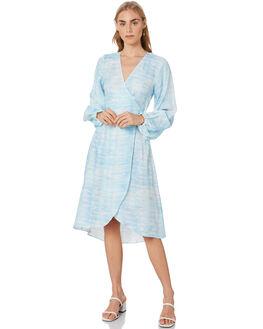 BLUE WOMENS CLOTHING TIGERLILY DRESSES - T305466BLU