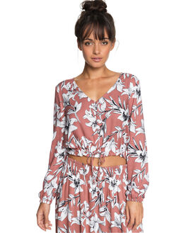 WITHERED ROSE LILY WOMENS CLOTHING ROXY FASHION TOPS - ERJWT03229MMG6