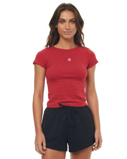 RED WOMENS CLOTHING STUSSY TEES - ST177107RED