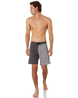 TWISTED BLACK MENS CLOTHING TOWN AND COUNTRY BOARDSHORTS - TBO110ETWBLK