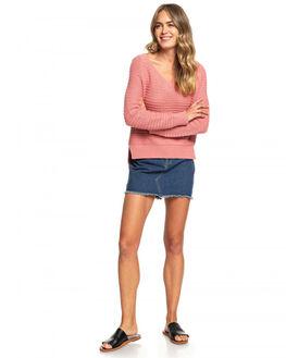 BRANDIED APRICOT WOMENS CLOTHING ROXY KNITS + CARDIGANS - ERJSW03324-MJG0