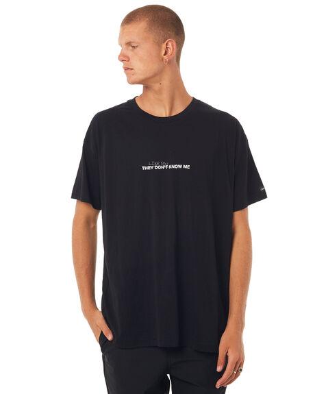 BLACK MENS CLOTHING ZANEROBE TEES - 129-TDKBLK