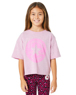PEONY PINK HEATHER KIDS GIRLS CONVERSE TOPS - R46A327AD2