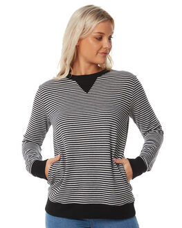 GREY MARLE STRIPE OUTLET WOMENS SWELL JUMPERS - S8183547GYMAS