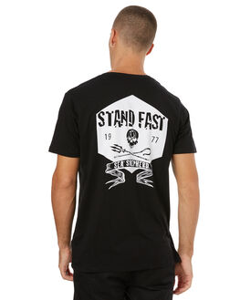 BLACK MENS CLOTHING SEA SHEPHERD TEES - SSA834ABLK