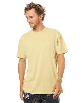 DIRTY YELLOW MENS CLOTHING STUSSY TEES - ST071000PDYLW