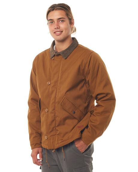 COPPER MENS CLOTHING BRIXTON JACKETS - 03177COPPR