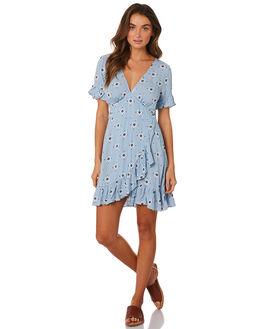 BLUE WOMENS CLOTHING TIGERLILY DRESSES - T393447BLU