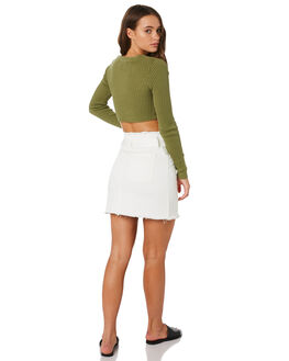 OFF WHITE WOMENS CLOTHING TWIIN SKIRTS - IE19S1932OWHT