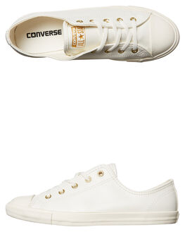 EGRET WHITE WOMENS FOOTWEAR CONVERSE SNEAKERS - 557995EGRET