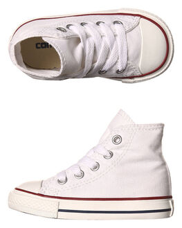 OPTICAL WHITE KIDS TODDLER BOYS CONVERSE FOOTWEAR - 7J253WHT