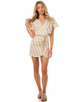 SAND BLACK STRIPE WOMENS CLOTHING LILYA DRESSES - LND04-LSP17-SSSBS