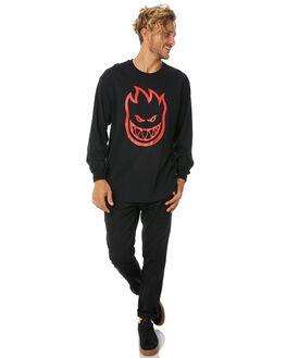 BLACK MENS CLOTHING SPITFIRE TEES - BHLSTEEBLK