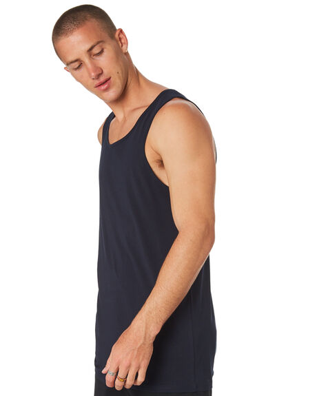 NAVY MENS CLOTHING AS COLOUR SINGLETS - 5007NAVY