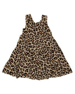 LEOPARD PRINT KIDS TODDLER GIRLS SWEET CHILD OF MINE DRESSES + PLAYSUITS - MALIDRESS-LEO