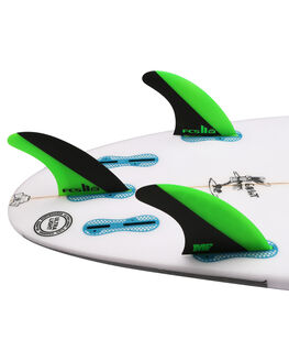GREEN BLACK BOARDSPORTS SURF FCS FINS - FMFL-PC02-LG-TS-RGNB