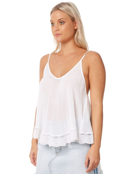 WHITE WOMENS CLOTHING RUSTY FASHION TOPS - SCL0284WHT