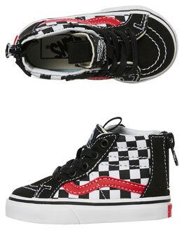 BLACK RED WHITE KIDS TODDLER BOYS VANS FOOTWEAR - VNA32R3U3ZBLK