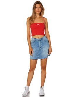 ETHER BLUE WOMENS CLOTHING LEE SKIRTS - L-656521-GE9