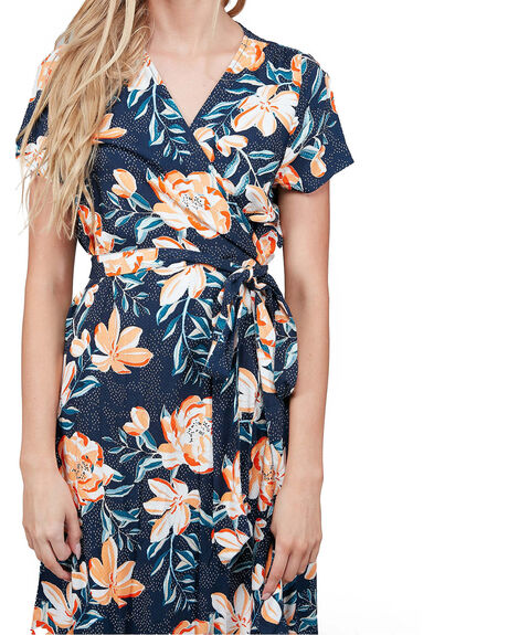 MOOD INDIGO HAPPY WOMENS CLOTHING ROXY DRESSES - URJWD03041-BSP7