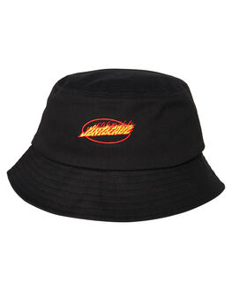 BLACK MENS ACCESSORIES SANTA CRUZ HEADWEAR - SC-MCA9171BLK