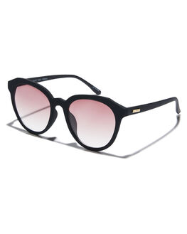 BLACK RUBBER WOMENS ACCESSORIES MINKPINK SUNGLASSES - MNP1908203BLKR