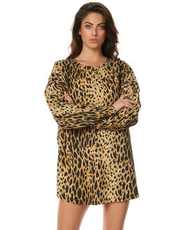 ANIMAL PRINT WOMENS CLOTHING ZULU AND ZEPHYR DRESSES - ZZ1521ANM