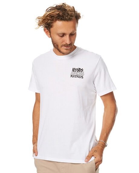 WHITE MENS CLOTHING AFENDS TEES - 01-01-292WHT