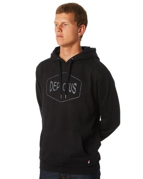 BLACK MENS CLOTHING DEPACTUS JUMPERS - D5171444BLACK