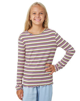 MULIT STRIPE KIDS GIRLS EVES SISTER TOPS - 9530006STR
