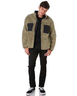SAGE GREEN MENS CLOTHING STUSSY JACKETS - ST091206SAGE