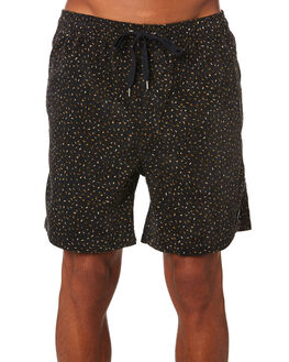 BLACK MENS CLOTHING RUSTY SHORTS - WKM0968BLK