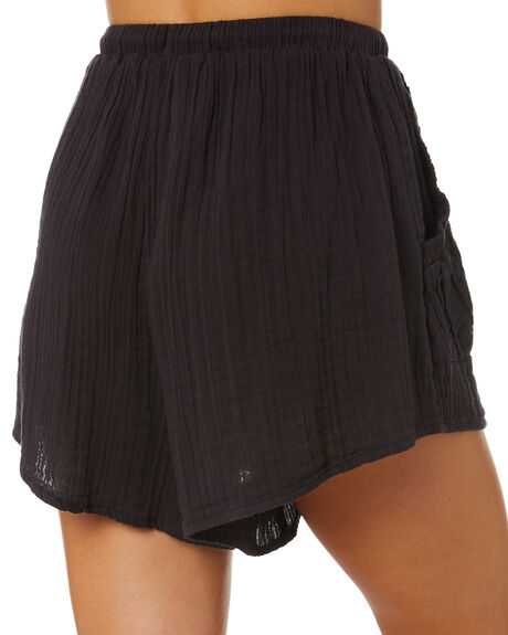 WASHED BLACK OUTLET WOMENS RIP CURL SHORTS - GWAFW18264