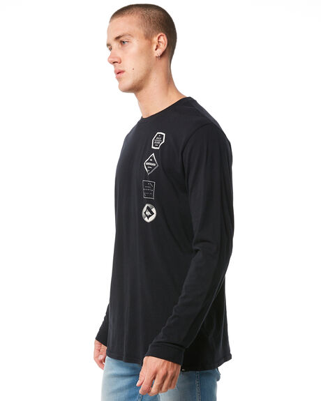 BLACK MENS CLOTHING QUIKSILVER TEES - EQYZT04874KVJ0