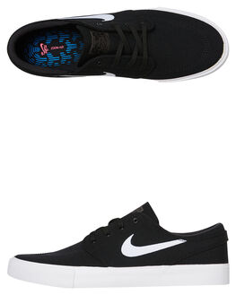 BLACK WHITE MENS FOOTWEAR NIKE SKATE SHOES - SSAR7718-001M
