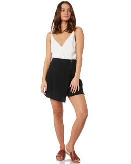BLACK WOMENS CLOTHING RUSTY SKIRTS - SKL0459BLK