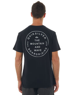 BLACK MENS CLOTHING QUIKSILVER TEES - EQYZT04719KVJ0