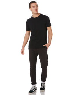 WASHED BLACK MENS CLOTHING RIP CURL PANTS - CPAJZ78264