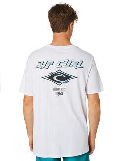WHITE MENS CLOTHING RIP CURL TEES - CTENS21000