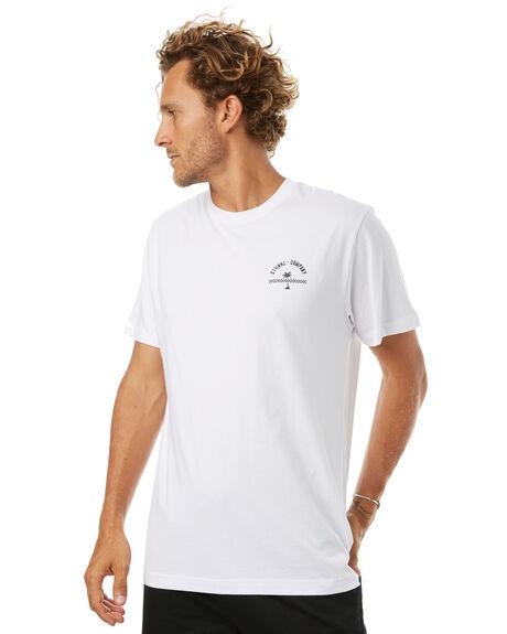 WHITE MENS CLOTHING THRILLS TEES - TR7-106AWHT
