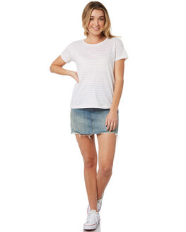 BLUSH WHITE WOMENS CLOTHING SILENT THEORY TEES - 6085039STR2