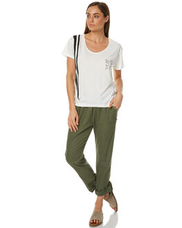 DUSTY OLIVE WOMENS CLOTHING ROXY PANTS - ERJNP03121GPB0