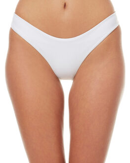 WHITE WOMENS SWIMWEAR ASSEMBLY BIKINI BOTTOMS - A-SWIM-11WHT
