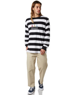 BLACK STRIPE MENS CLOTHING BARNEY COOLS TEES - 143-CR2BKSTP