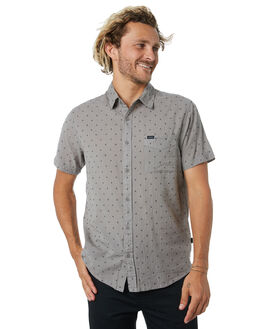 CHARCOAL GREY MENS CLOTHING RIP CURL SHIRTS - CSHNU10084
