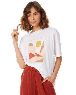 WHITE WOMENS CLOTHING RUE STIIC TEES - SA18-48-WHT