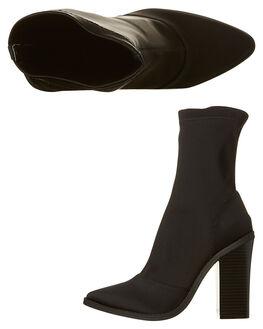 BLACK WOMENS FOOTWEAR LIPSTIK BOOTS - 8741LBLK
