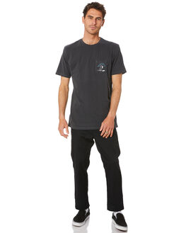 BLACK MENS CLOTHING VANS TEES - VN0A4MRBBLKBLK