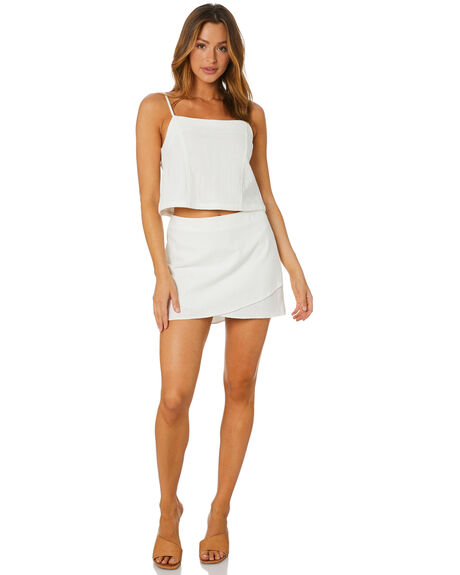 WHITE WOMENS CLOTHING RUSTY FASHION TOPS - WSL0688WHT